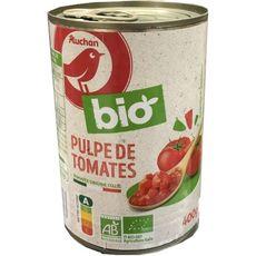 AUCHAN BIO Pulpe de tomates 400g