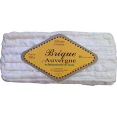 FROMAGERIE DE JUSSAC Brique d'Auvergne au lait pasteurisé de vache 26% MG 200g
