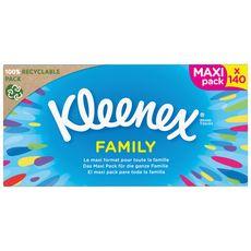 KLEENEX Boîte de mouchoirs family 140 mouchoirs