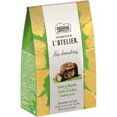 NESTLE Les bouchées chocolat au lait éclats de noisettes 161g