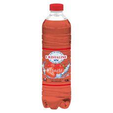 CRISTALINE Eau de source aromatisée au jus de fraise 1,5l