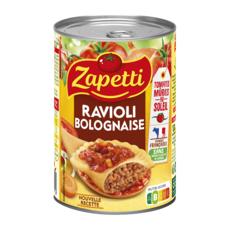 ZAPETTI Ravioli au blé complet sauce bolognaise riche en bœuf français 400g