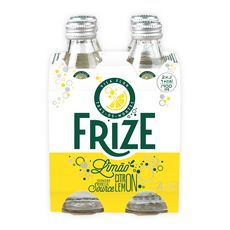 FRIZE Eau gazeuse aromatisée citron bouteille 4x25cl