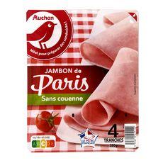 AUCHAN Jambon blanc de Paris sans couenne 4 tranches 180g