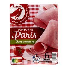 AUCHAN Jambon blanc de Paris sans couenne 6 tranches 270g