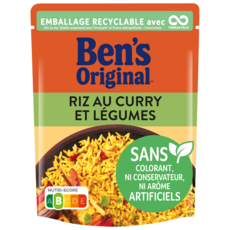 BEN'S ORIGINAL Riz Express au Curry et Légumes 2 minutes 250g