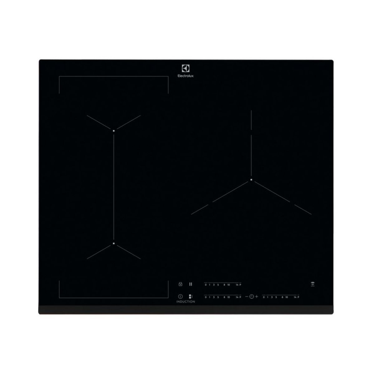 Table de cuisson induction encastrable EIV63343, 56 cm, 3 foyers