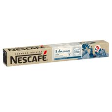 NESCAFE Farmers origins Capsules de café 3 Americas Lungo compatibles Nespresso intensité 8 10 capsules 54g