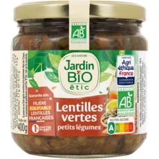 JARDIN BIO ETIC Lentilles cuisinées aux petits légumes, en bocal 400g