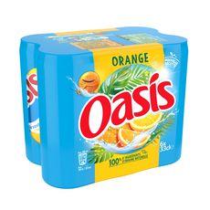 OASIS Boisson aux fruits duo d'oranges boîtes slim 6x33cl
