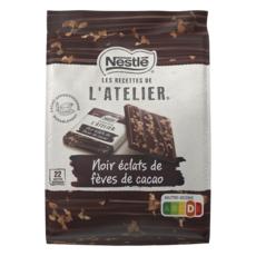 NESTLE Les carrés, mignonettes de chocolat noir aux éclats de fèves de cacao 23 pièces 192g