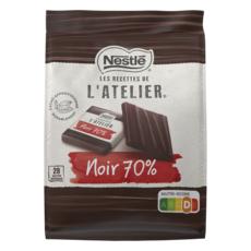 NESTLE L'Atelier Carrés de chocolat noir de dégustation 70% intense 28 carrés 210g