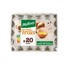 MATINES Oeuf frais daté du jour de ponte 20 œufs