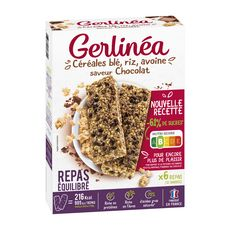 GERLINEA Repas minceur céréales aux pépites de chocolat 12x31g 372g