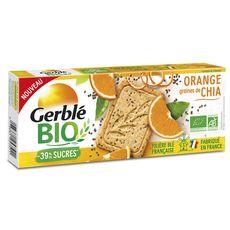GERBLE BIO Sablés orange graines de chia 130g