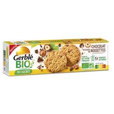 GERBLE BIO Biscuits sablés chocolat et éclats de noisettes 130g