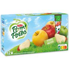 POM'POTES Gourdes pomme nature sans conservateur 12x90g