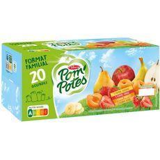 POM'POTES Gourdes pomme banane fraise abricot poire sans conservateur 20x90g