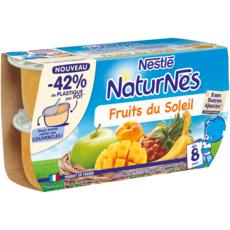 NATURNES Petits pots pour bébé Fruits du soleil 4x130g
