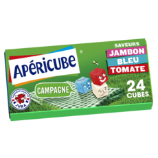 APERICUBE Cubes de fromage apéritif Panier de Campagne 24 cubes 125g