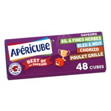 APERICUBE Cubes de fromage apéritif Best Of des Saveurs 48 cubes 250g