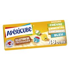 APERICUBE Cubes de fromage apéritif Sélection du fromager 48 cubes 250g