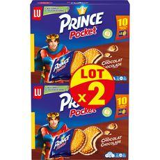 PRINCE Biscuit fourré au chocolat Lot de 2 400g
