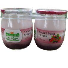LE PETIT VERSAILLAIS Yaourt nature sur lit de fruits rouges 2x125g