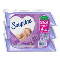 SOUPLINE Recharge assouplissant concentré lavande 27 lavages 3x200ml