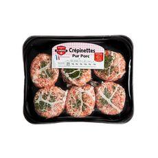 CHARCUTERIE DES FLANDRES Crépinettes pur porc 6 pièces 600g