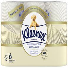 KLEENEX Papier toilette décoré dermo douceur  6 maxi rouleaux