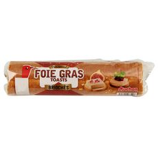 AUCHAN Toasts briochés spécial foie gras 250g