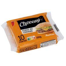 AUCHAN Cheeesy Cheddar en tranche x10 10 tranches 200g
