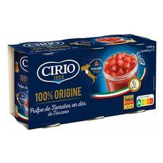 CIRIO Pulpe de tomate en dés de Toscane 3x400g