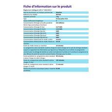SELECLINE Sèche-linge hublot 897426, 7 kg, Évacuation, C