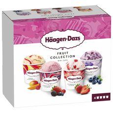 HAAGEN DAZS Mini pot de crème glacée fruit collection obsessions 4 pièces 330g