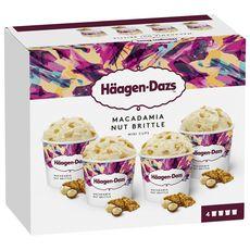 HAAGEN DAZS Mini pot de crème glacée macadamia collection 4 pièces 324g