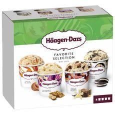 HAAGEN DAZS Mini pot de crème glacée favorite collection 4 pièces 318g