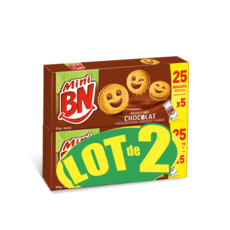 BN Mini Biscuits fourrés au chocolat 2x350g