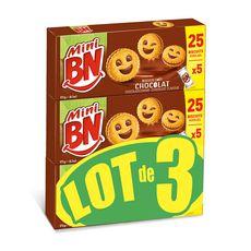 BN Mini Biscuits fourrés au chocolat 3 paquets 3x175g