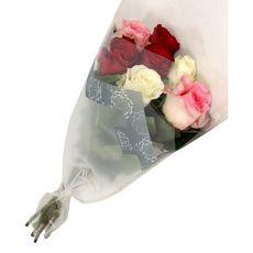 FLEURS Bouquet de 7 roses arlequin 1 pièce