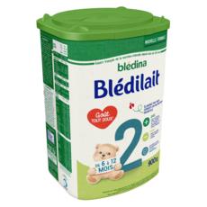 BLEDINA Blédilait 2 lait 2ème âge en poudre de 6 à 12 mois 900g