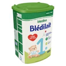 BLEDINA Blédilait 1 lait 1er âge en poudre dès la naissance à 6 mois 900g