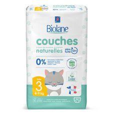 BIOLANE Couches naturelles 0% taille 3 ( 4-9kg )  52 couches