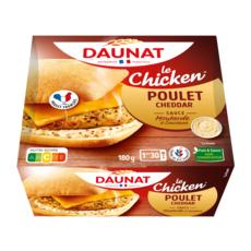 DAUNAT Le chicken burger avec du poulet français 1 pièce 180g