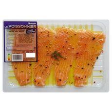 AUCHAN LE POISSONNIER Carpaccio de saumon mariné 2 parts 170g