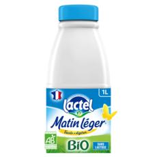 LACTEL Matin léger Lait demi-écrémé bio délactosé UHT 1L