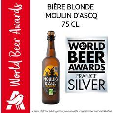 MOULINS D'ASCQ Bière blonde artisanale des Flandres bio 6,2% 75cl
