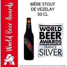 VEZELAY Stout Bière brune bio d'origine Britannique 5,50% bouteille 50cl