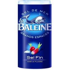LA BALEINE Sel de mer fin iodé et fluoré 550g